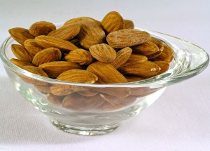 Nuts: a handful of nuts 4 days a week will cut your risk of heart disease by 1/3