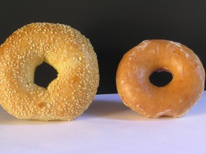 A bagel makes your sugar level rise even more than a frosted donut (best to avoid both!) Foods don't have to be sugary to make your blood sugar soar.