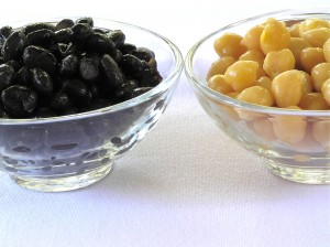 Beans are an excellent side dish in place of a starch and a great source of protein, fiber, and folic acid . Healthy choices are black beans, soybeans, chick peas.