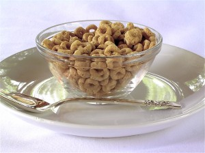 "If you eat cold cereal, choose one that lists ""whole grain"" as the first ingredient."