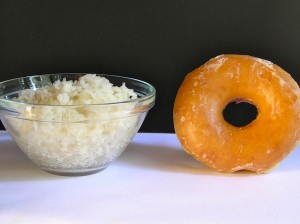 A cup of white rice  will raise your sugar level more than a frosted donut. Skip the rice with lunch or, if you do eat rice, make it brown rice that has 3 times the fiber compared to white rice.