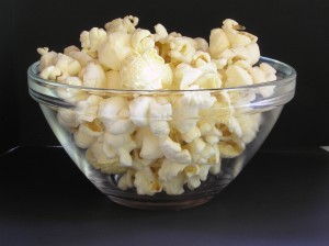 Did you know that popcorn is a whole grain? Air popped popcorn, minus the butter sauce, is an ideal snack.