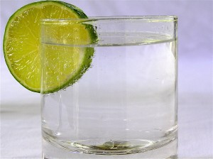 Sparkling water with lemon or lime is a healthy substitute for soda. Cutting out 1 soda/day will lead you to  lose 1 pound a month.